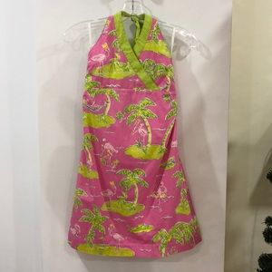 Lilly Pulitzer flamingo palm tree dress size 14